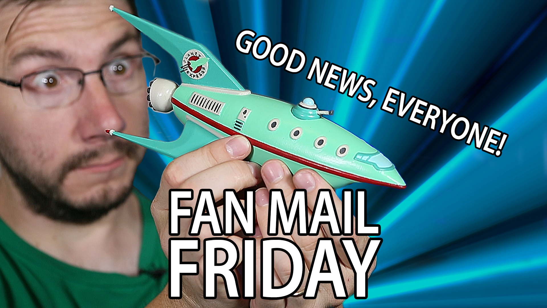 Fan Mail Friday 017 – 3D Printed Futurama Planet Express Ship
