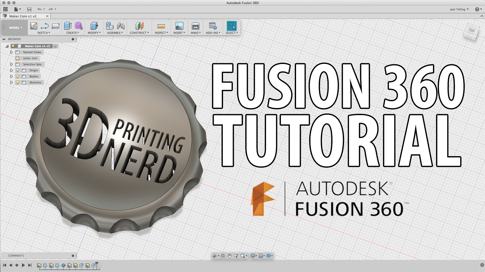 Fusion 360 Beginner Tutorial – Create a Maker Coin