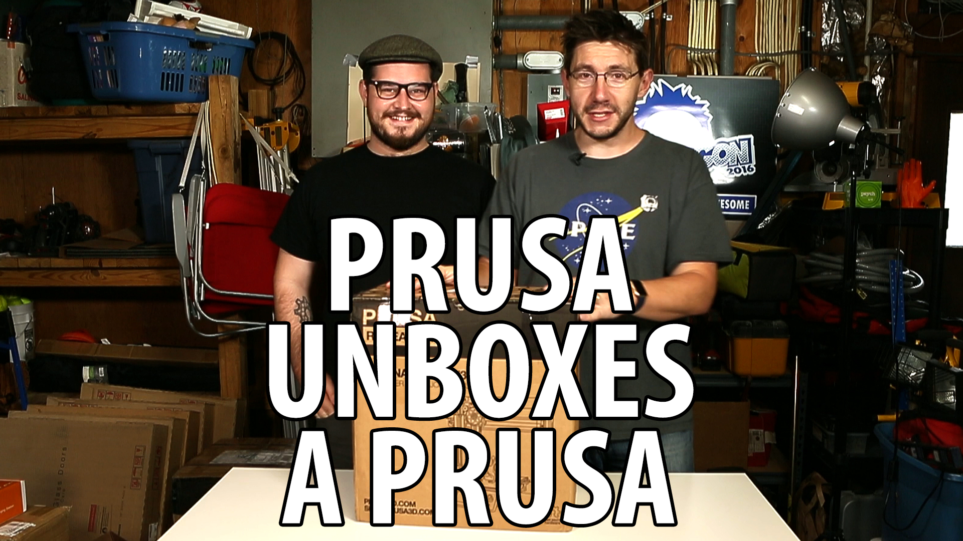 Josef Prusa Unboxing the Prusa i3 mk2 Kit 3D Printer
