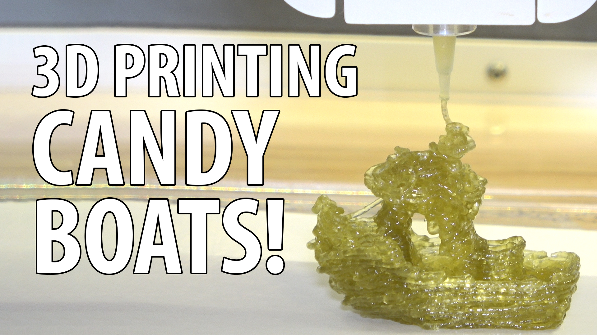 3D Printing a Candy 3DBenchy on the Magic Candy Factory
