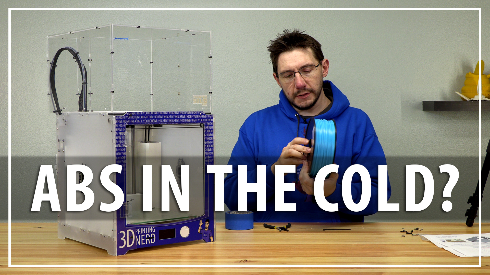 3D Printing ABS In The Cold! // Assembling and Testing a 3D Printer Enclosure