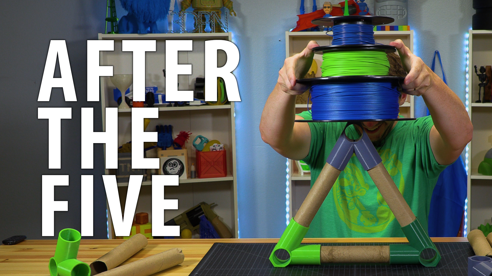 After The Five – Paper Towel Tube Spool Holder