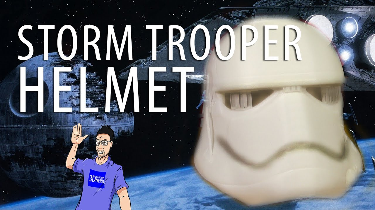 3D Printed First Order Storm Trooper Helmet on the Zortrax M300 3D Printer