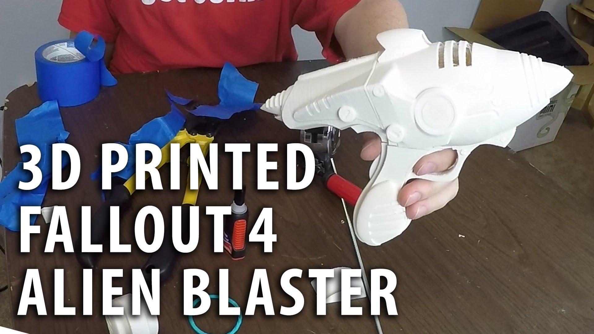 Assembling a 3D Printed Fallout 4 Alien Blaster