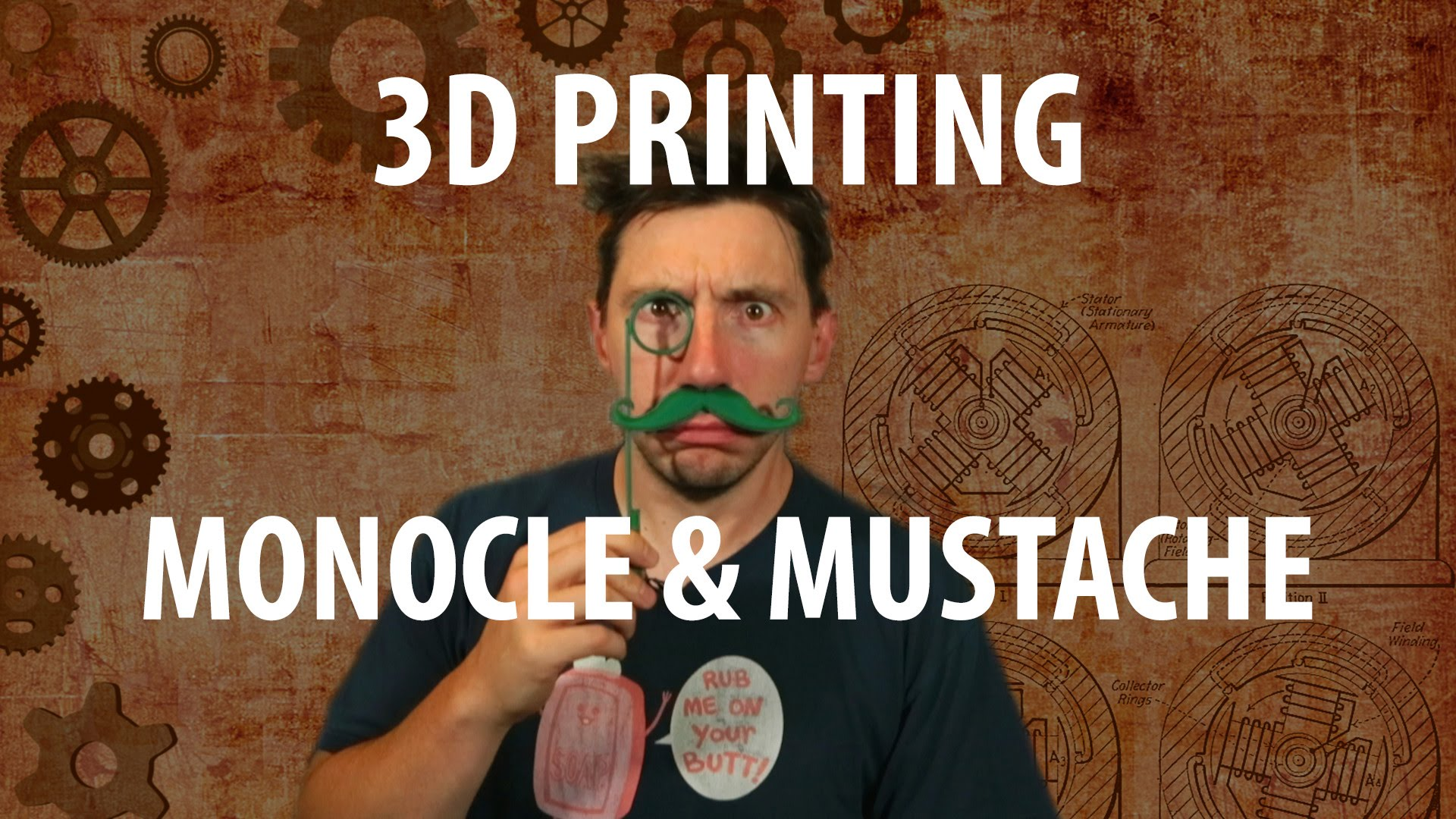 3D Printing a Monocle and Mustache
