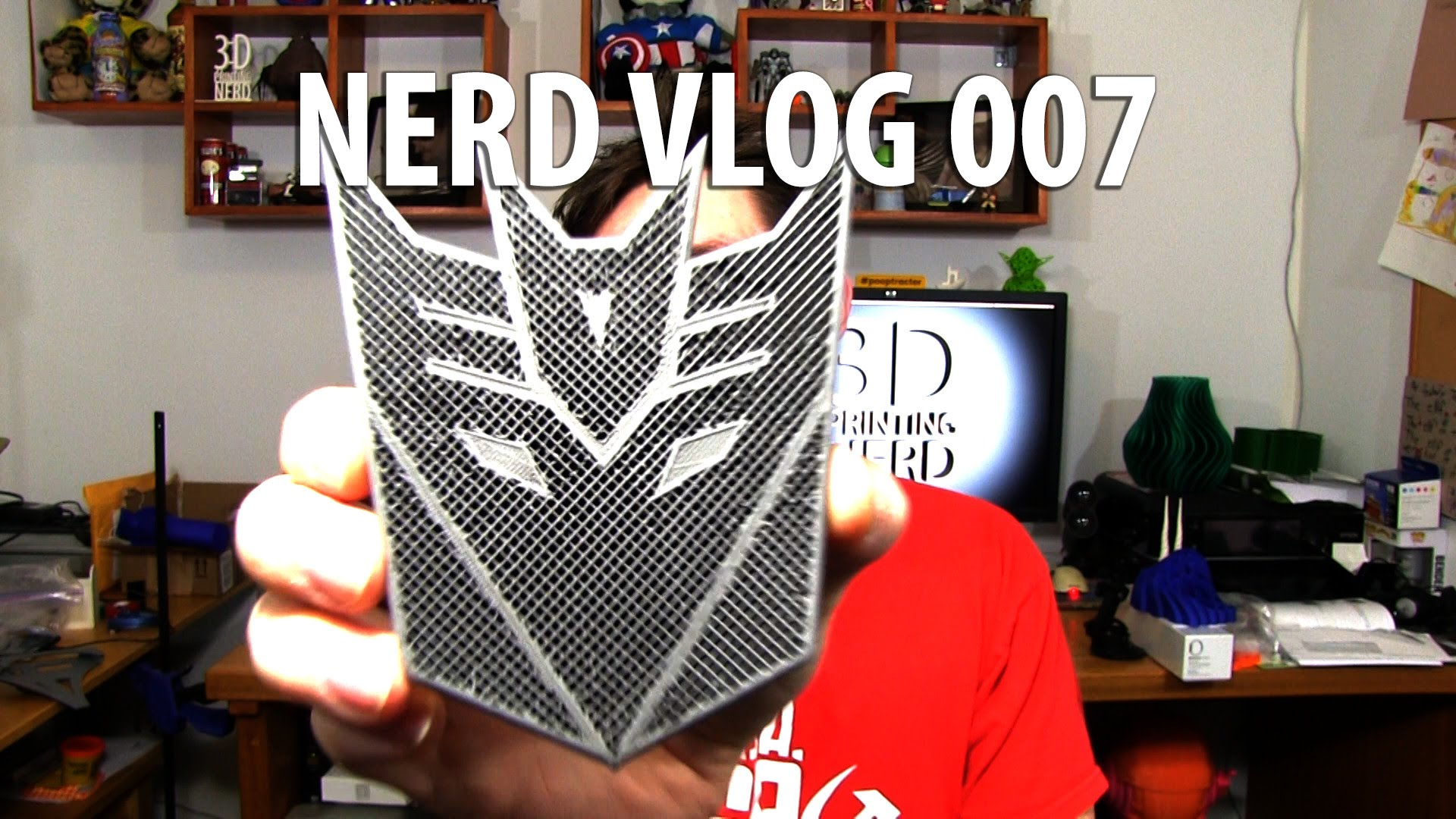 3D Printing: Nerd Vlog 007 with Proto Pasta Stainless, Carbon Fiber, Superman, Transformers