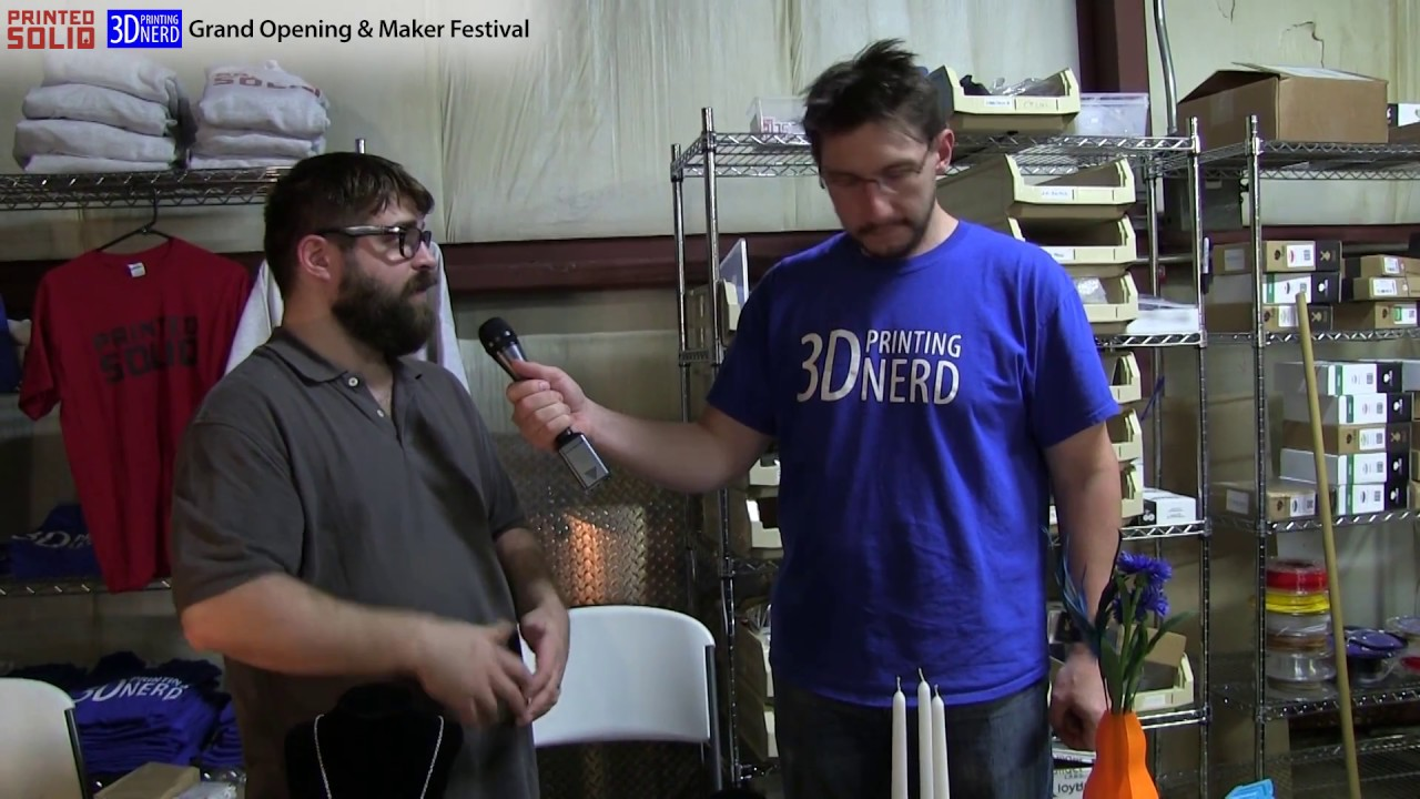 Interview with Cole Hastings at the Printed Solid Grand Opening in Newark, Delaware