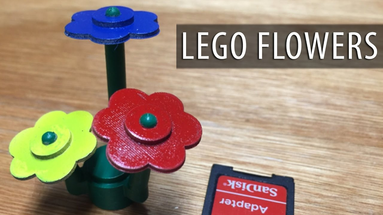 Last Minute Mother's Day Lego Flowers using 3D Printing