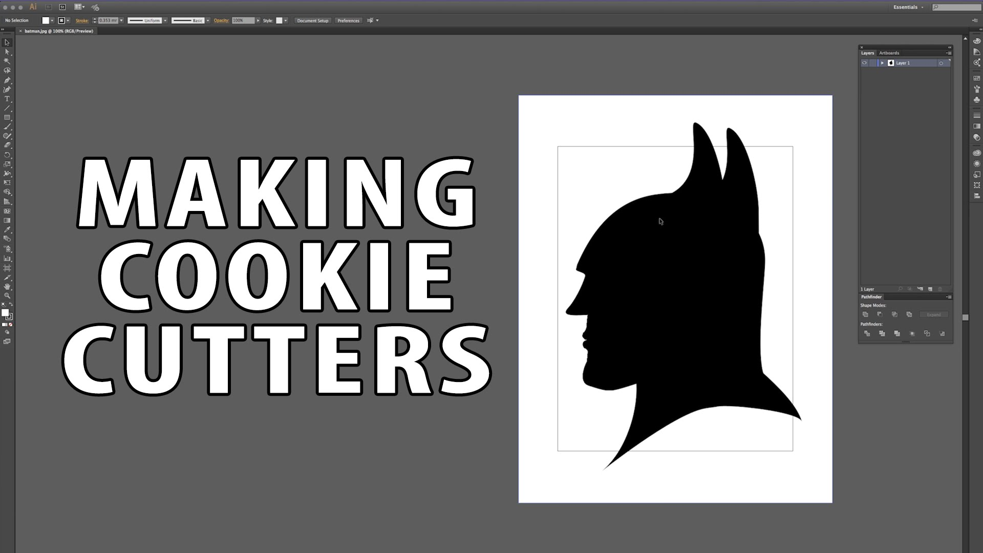 3D Printing Cookie Cutter Tutorial using Illustrator & Photoshop