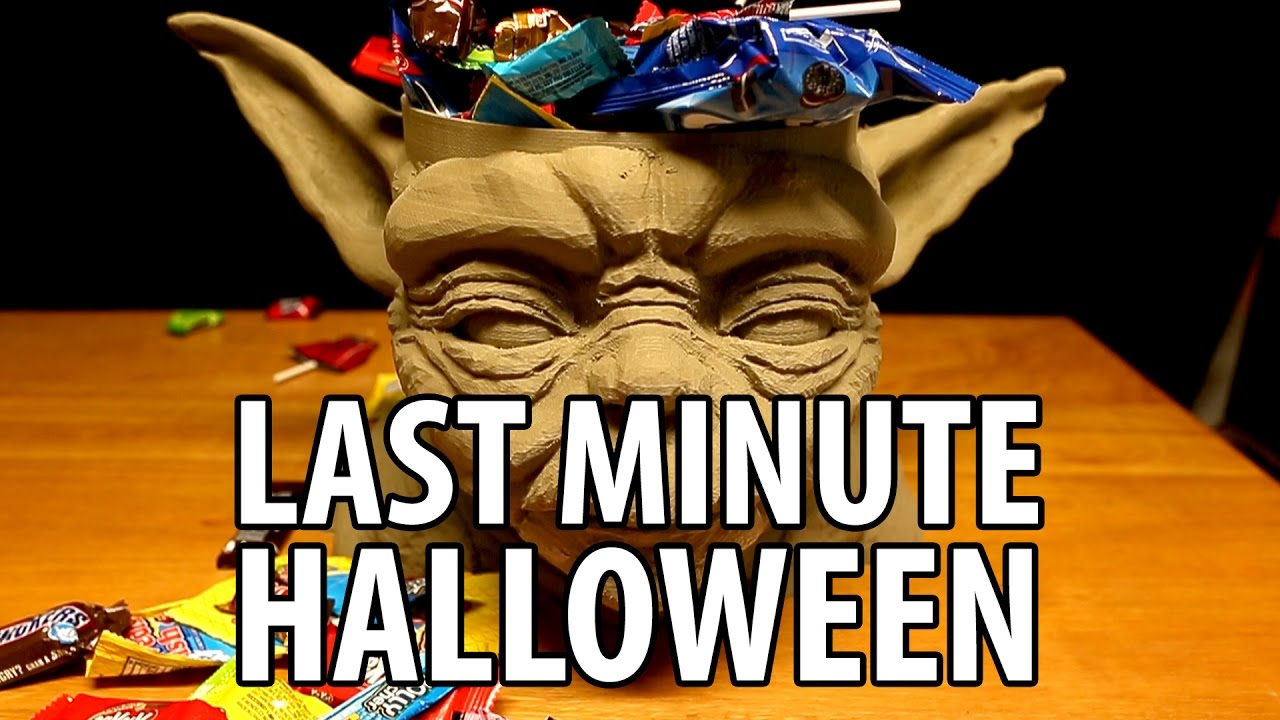 Last Minute Halloween Ideas using 3D Printing