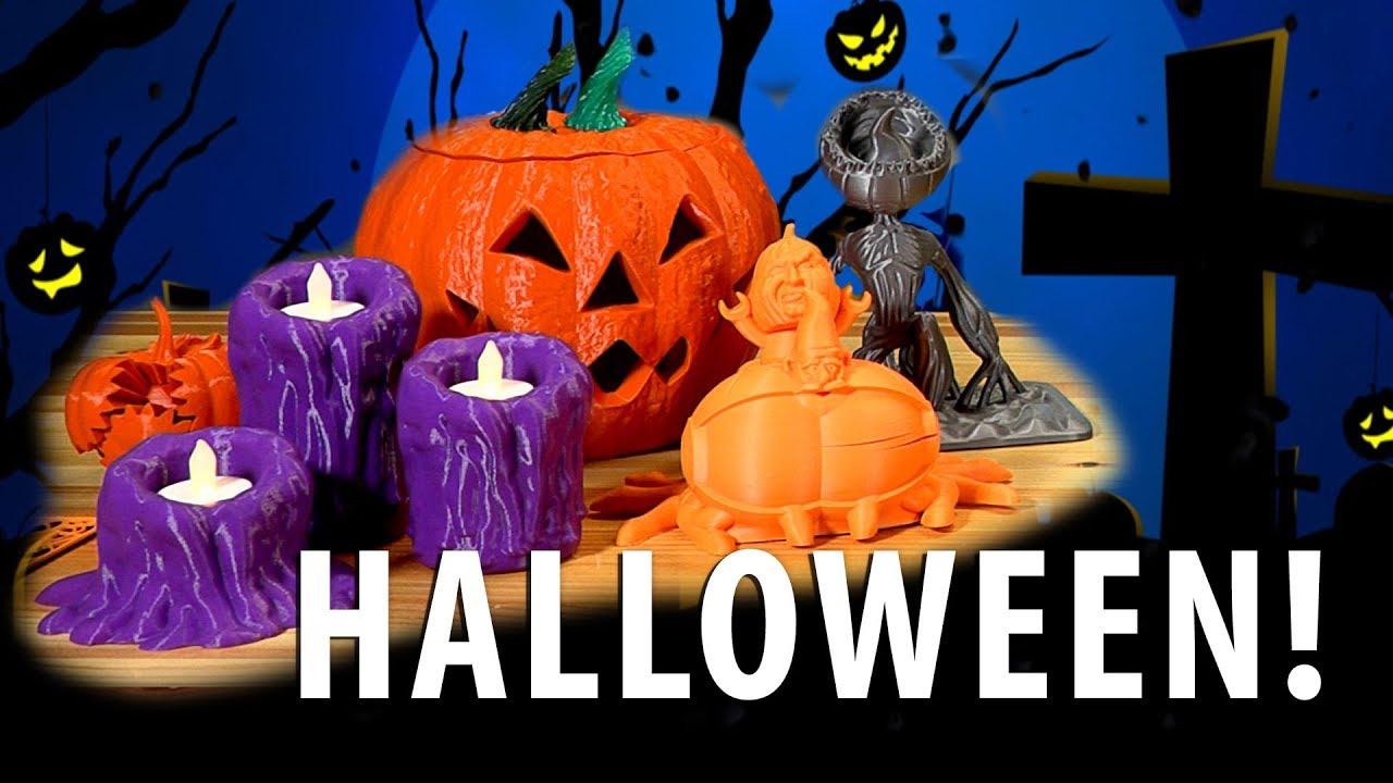 10 Great Halloween 3D Printed Models!