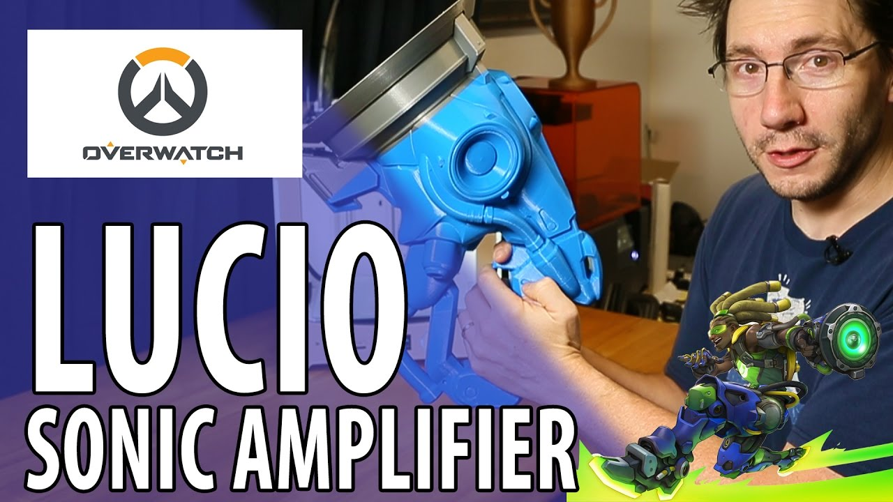3D Printing the Lucio Sonic Amplifier Overwatch Gun Build Part 1