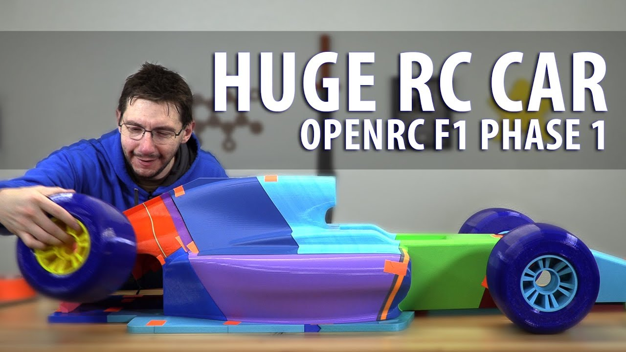 Worlds Largest OpenRC F1 Car – Phase 1 // 3D Printing the Parts (Matterhackers BUILD PLA / Pro Flex)