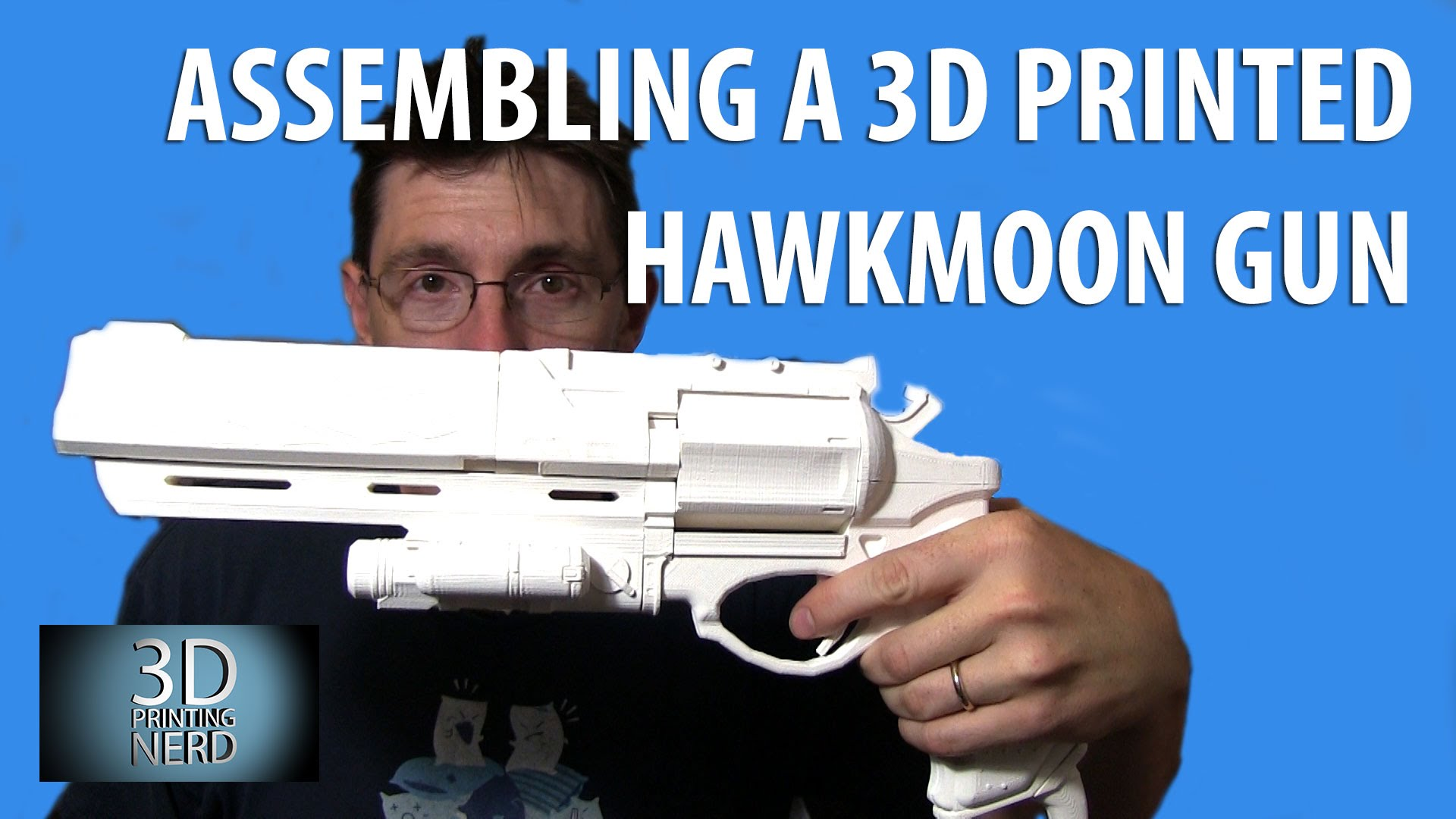 3D Printing the Hawkmoon from Destiny and Gluing it Together