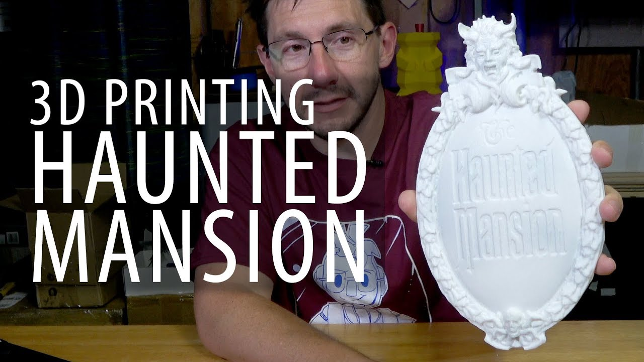 3D Printing Disney Haunted Mansion Plaque with Simplify3D Variable Settings Wizard on Formbot TREX2+