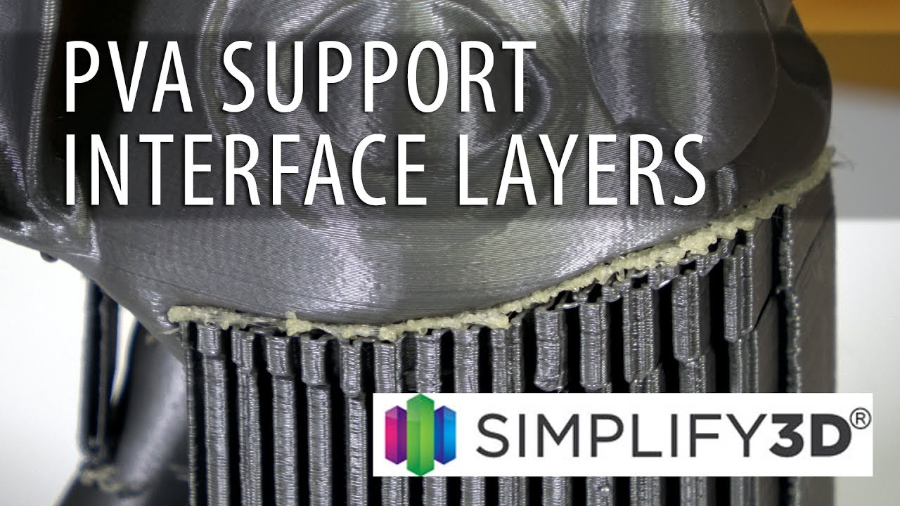Simplify3D 4.0 – PVA Support Interface Layers / Optimize Your Soluble Supports