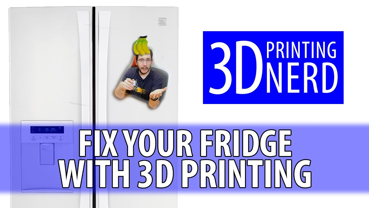 How To Fix a Broken Kenmore Refrigerator with 3D Printing