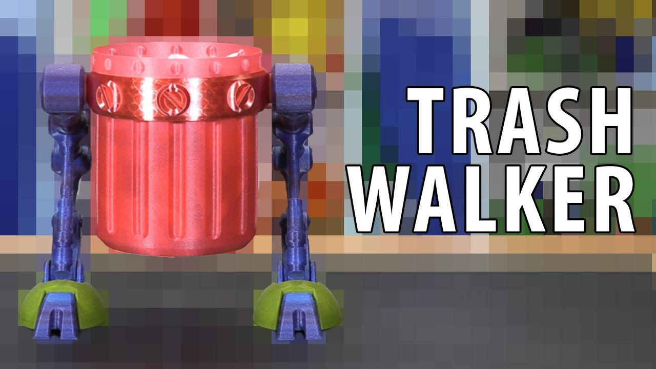 3D Printing a Trash Walker – The Trashcan Never Looked So Good