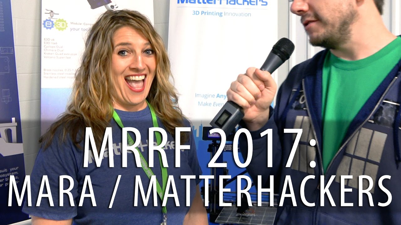 Speaking with Mara from Matterhackers at #MRRF2017