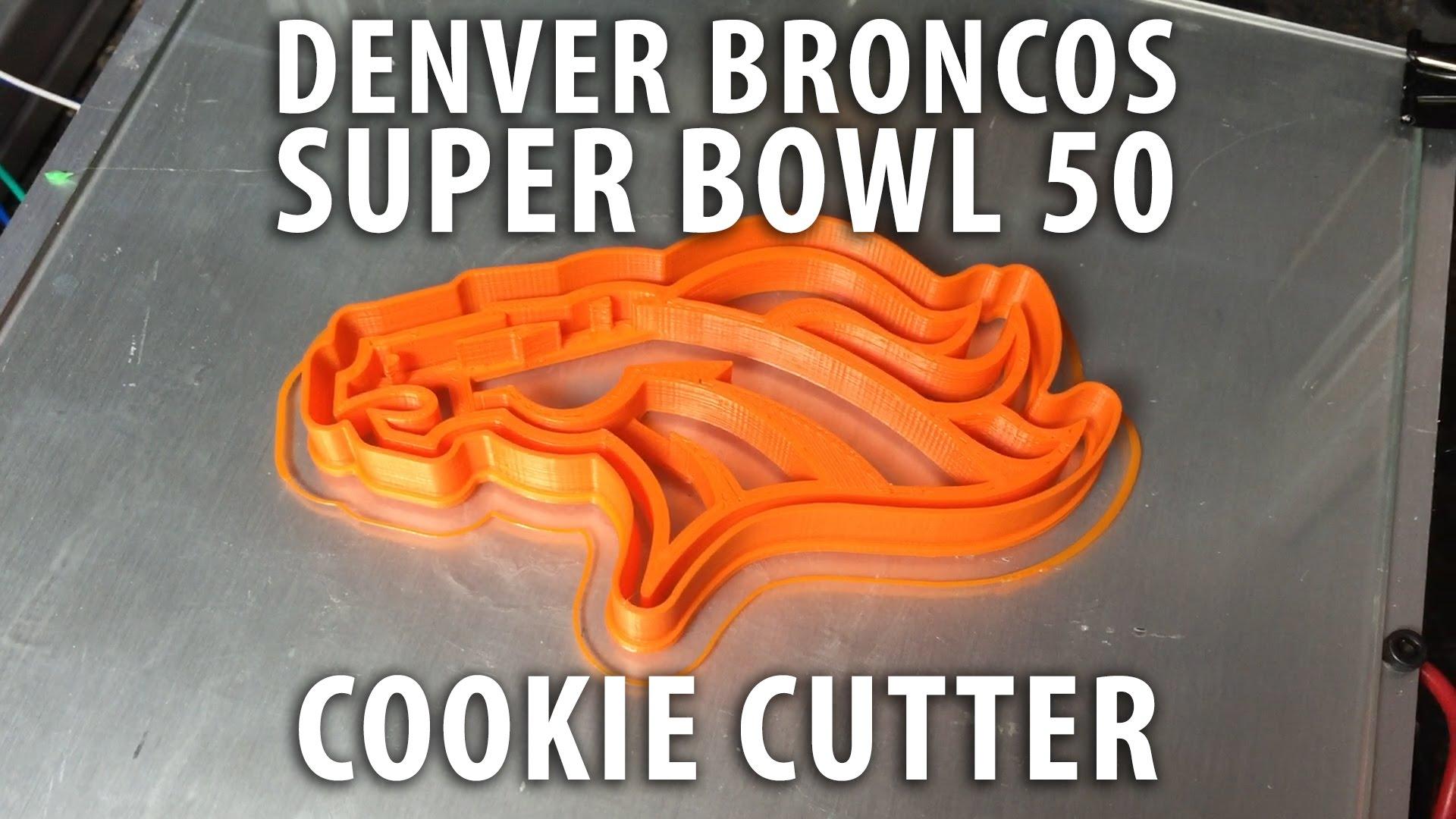 3D Printed Denver Broncos Super Bowl 50 cookie cutter