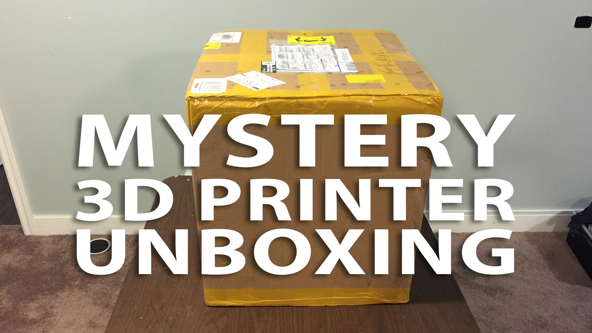 BEHIND THE SCENES: Unboxing the Mystery 3D Printer!