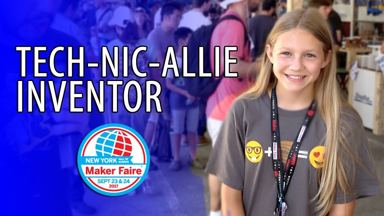 Chatting with Tech-Nic-Allie (RobotMakerGirl) at Maker Faire New York #MFNY17