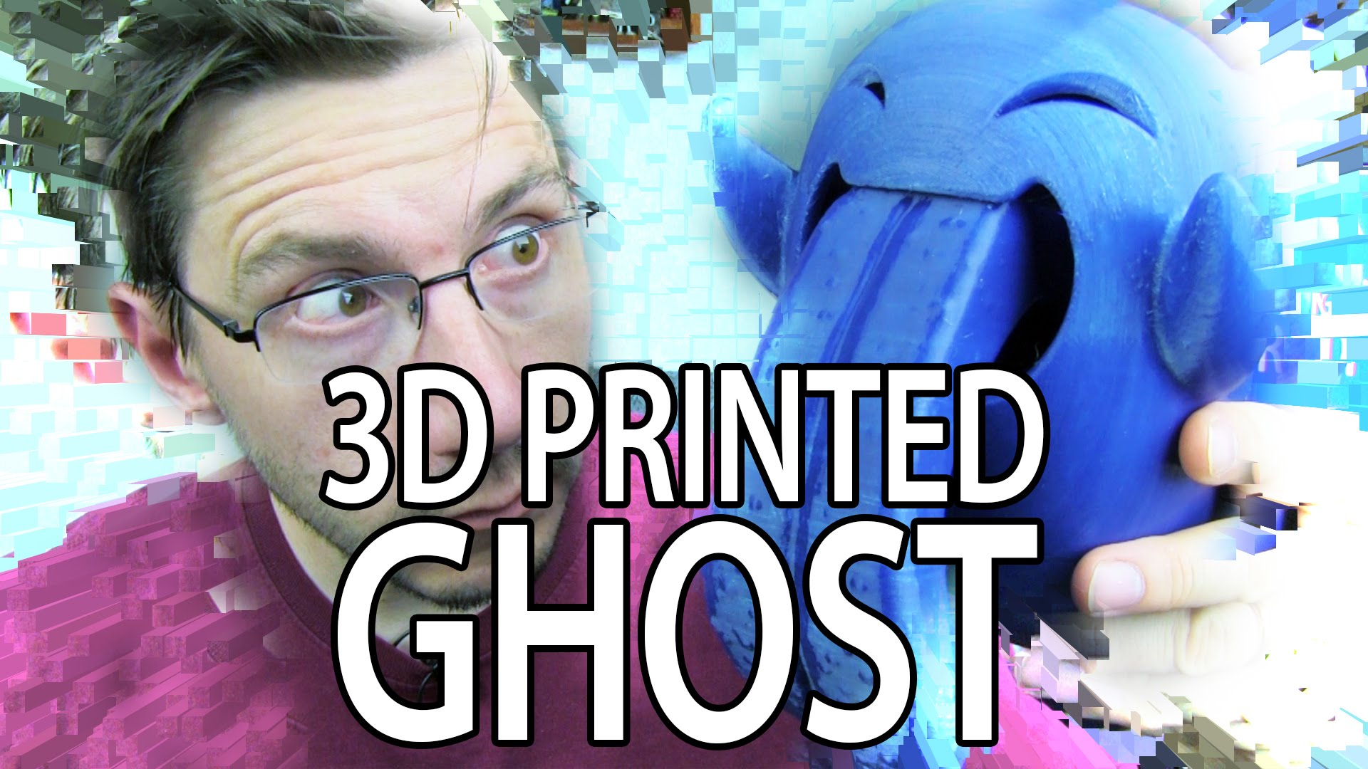 3D Printing the 3DKitBash Mega Ghost with HUGE Moveable Tongue!