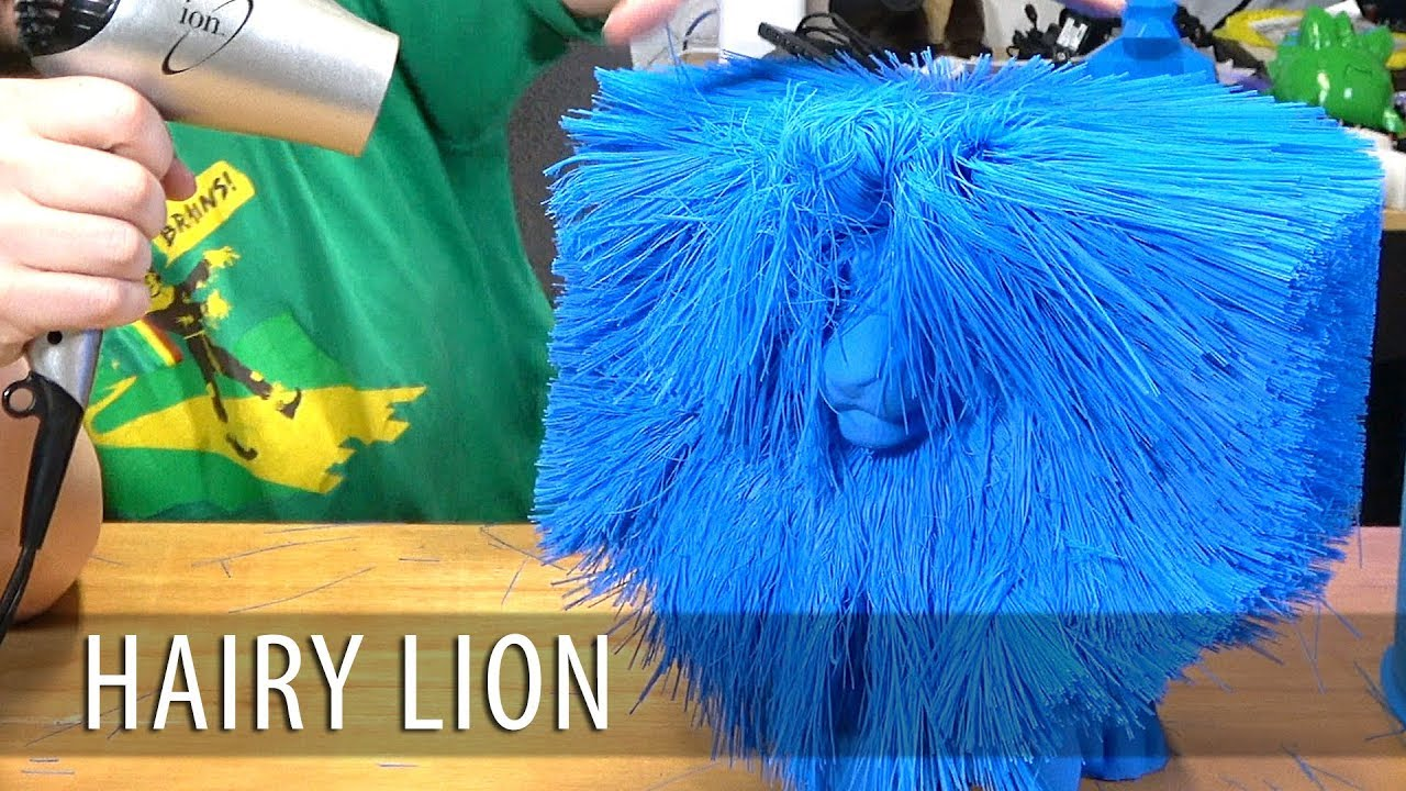 3D Printing the Worlds Largest Hairy Lion on the gMax 3D Printer using MakeShaper PLA