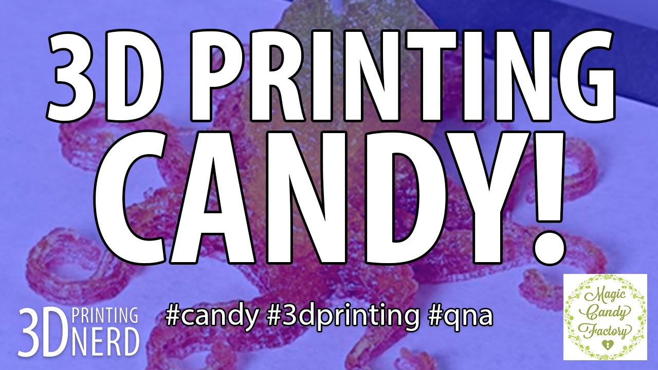 3D Printing Candy! The Magic Candy Factory 3D Printer!