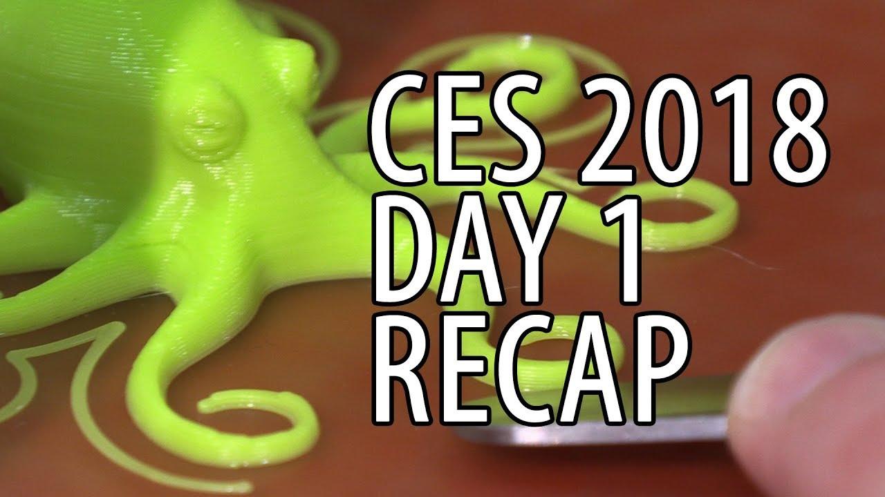 CES 2018 Day 1 Recap For Me PLUS Lulzbot Mini Winners Announced!