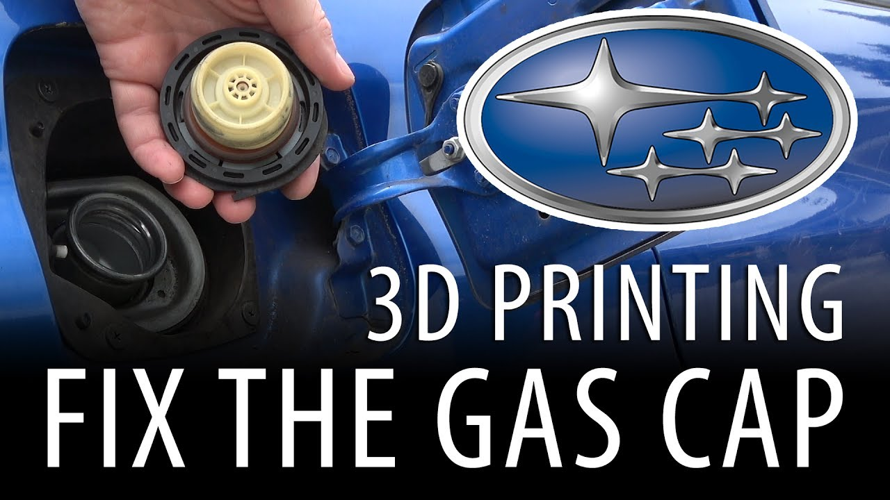 Using 3D Printing To Fix The Gas Cap On My Subaru WRX With The ZYYX+ 3D Printer [Practical Printing]