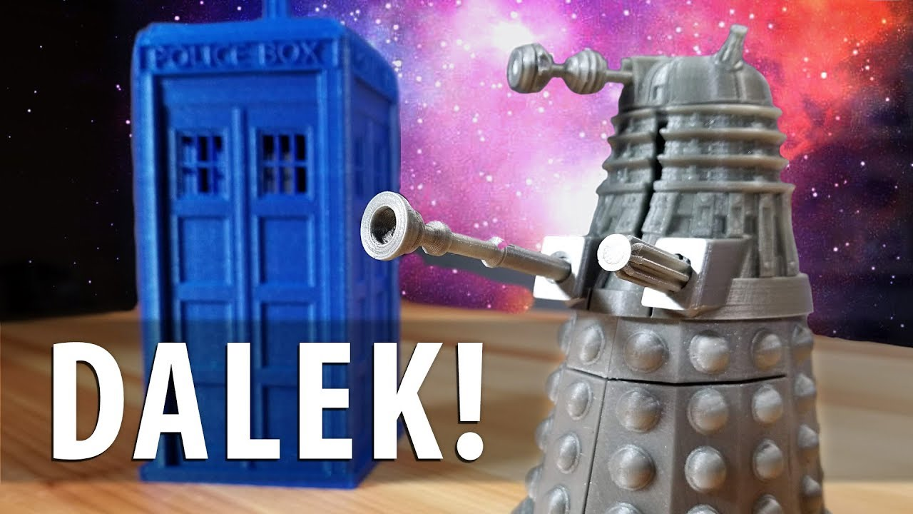 3D Printing a DALEK! Doctor Who! EXTERMINATE!