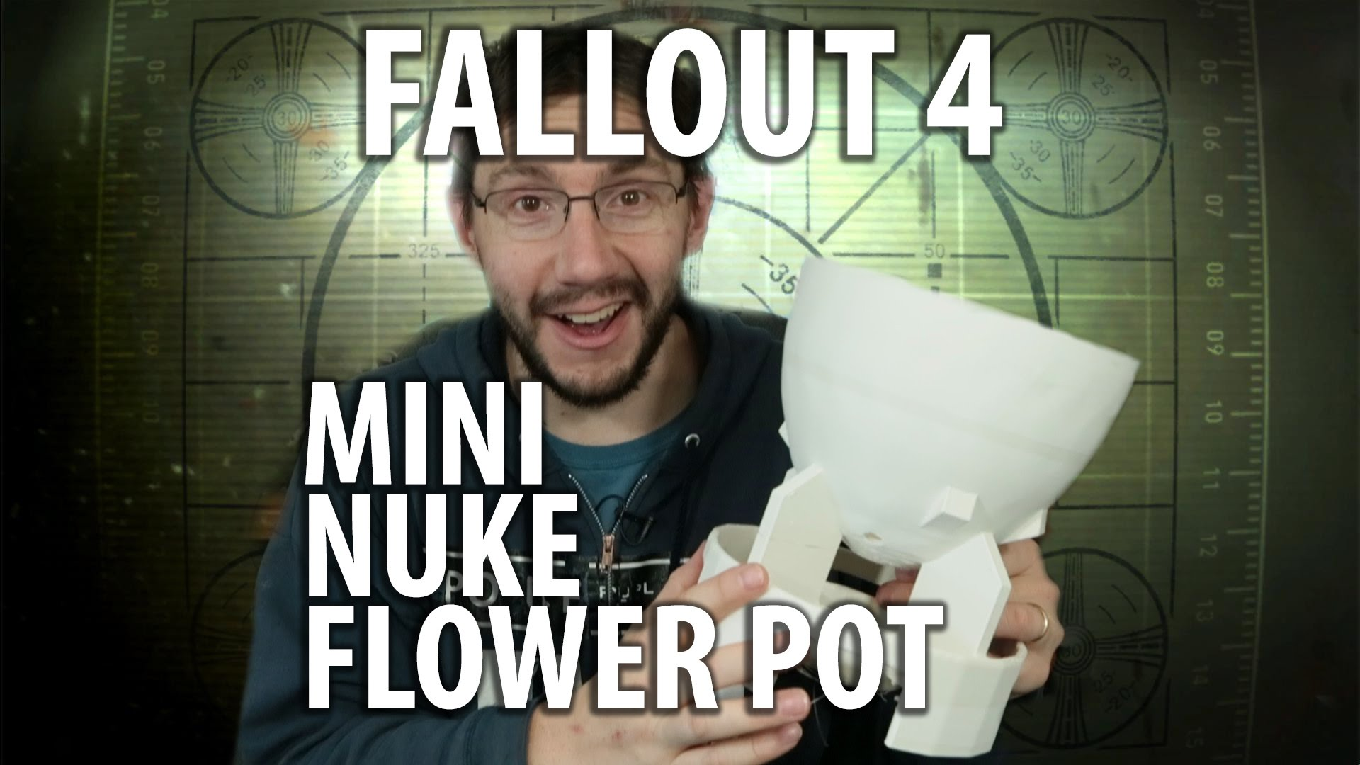 3D Printed Mini Nuke Plant Pot from Fallout with Timelapse!