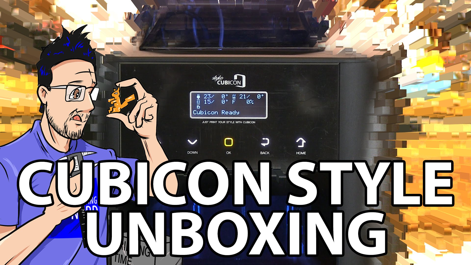 Unboxing the Cubicon Style 3D Printer and Getting the First Print