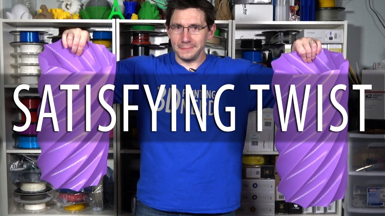 Biggest 3D Printed Oddly Satisfying 3D Printing Twist Containers