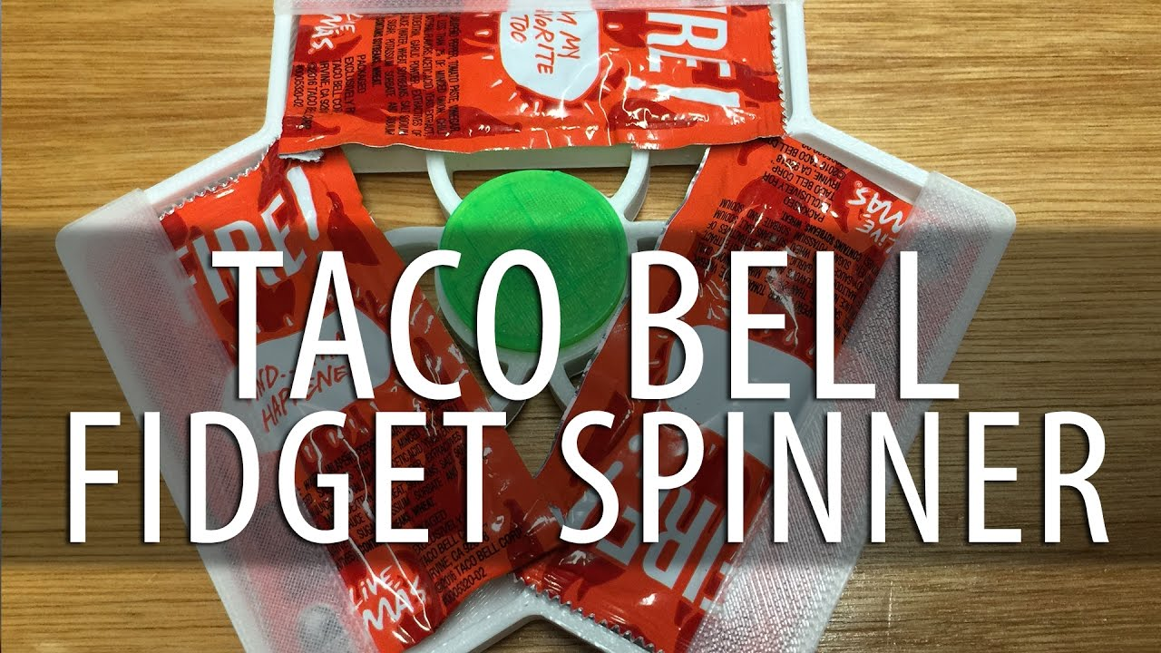 Fidget Spinner! This Time with TACO BELL SAUCE PACKETS!