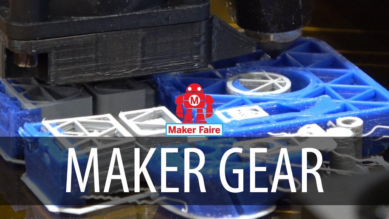 Makergear M3 3D Printer at Bay Area Maker Faire #MFBA17