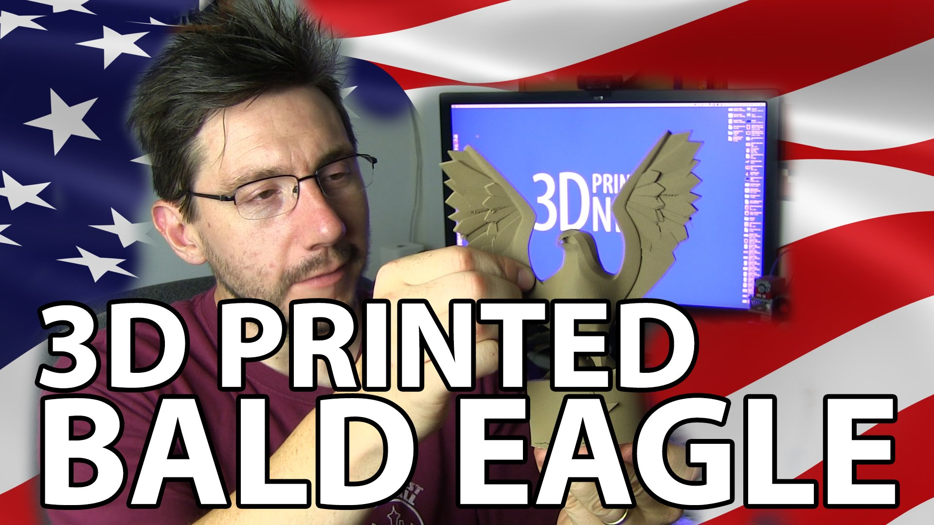 3D Printing: Bald Eagle for Independence Day