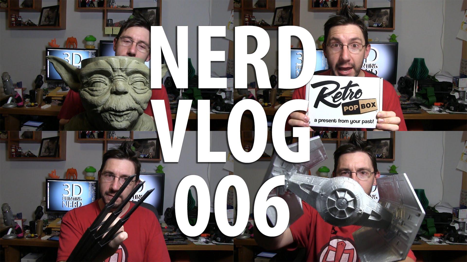 Nerd Vlog 006 – Form Futura winner, TIE Advanced, Yoda, Retro Pop Box