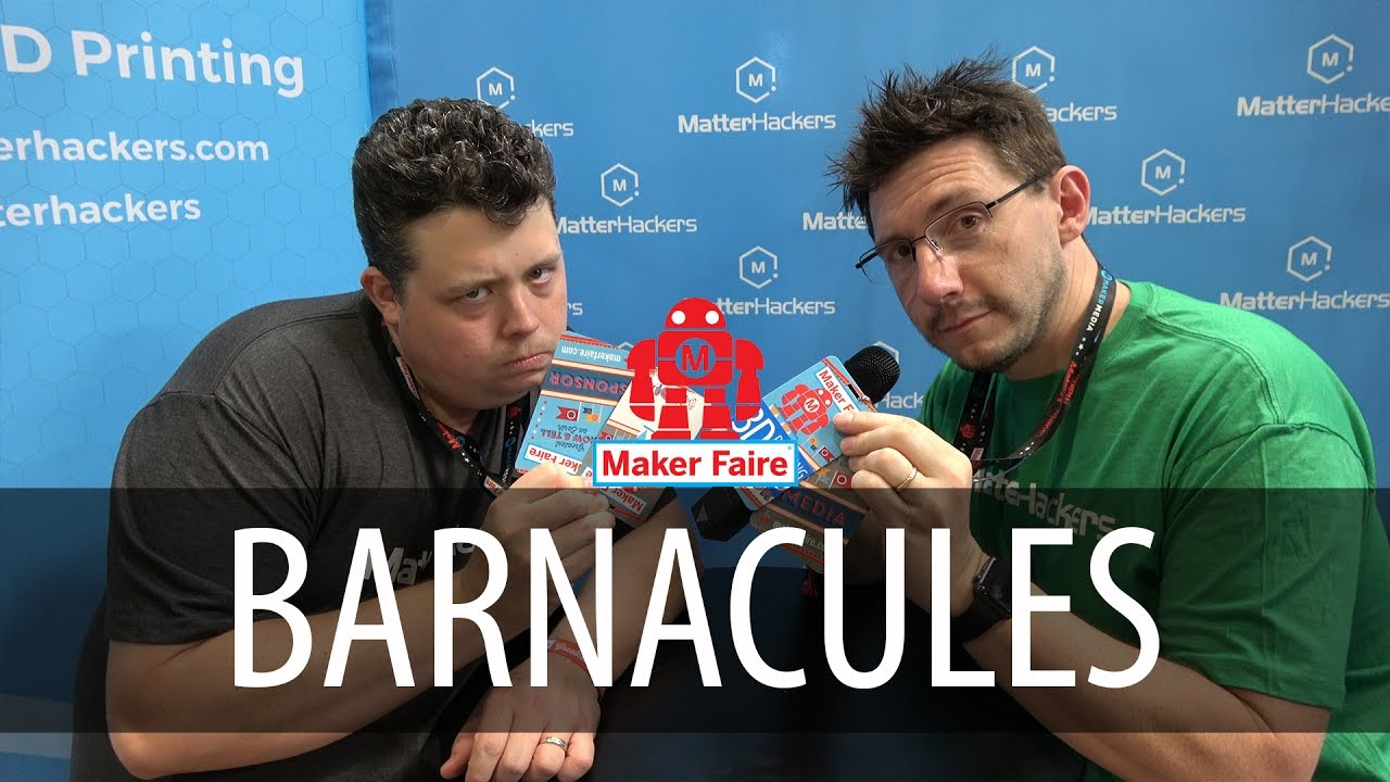 Barnacules Nerdgasm interview at Matterhackers booth at Bay Area Maker Faire 2017
