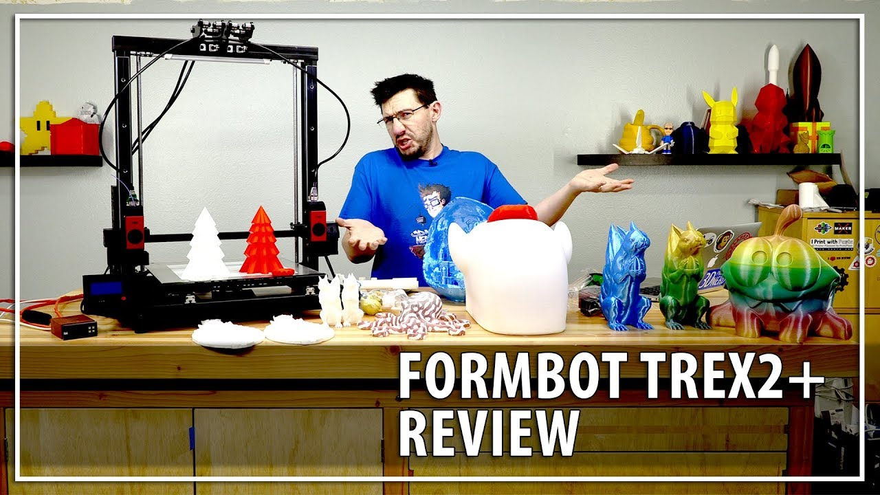 Formbot TREX2+ 3D Printer Review / Dual Independent Extruders at gMax Build Sizes, Is It Worth It?