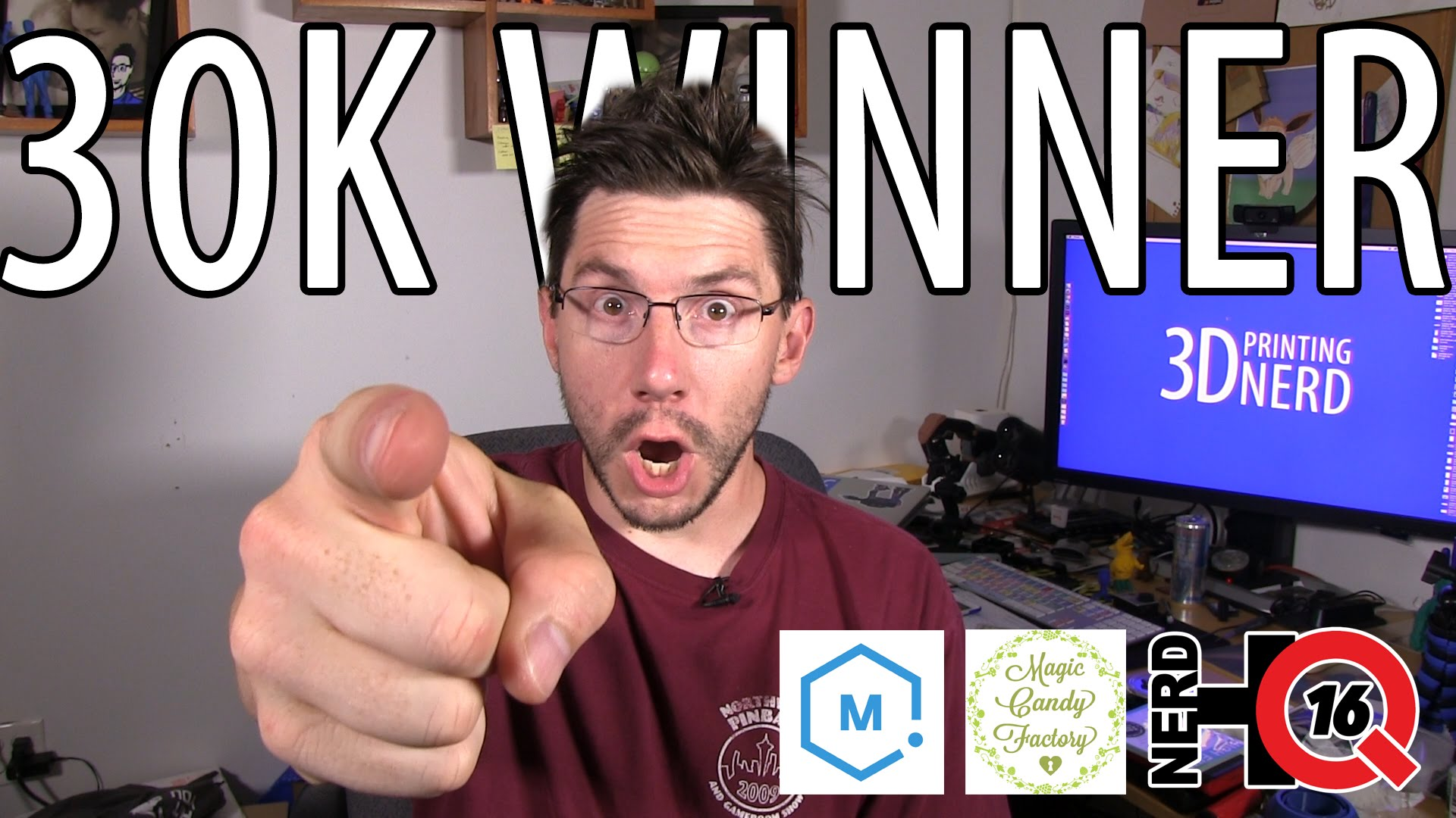 3D Printing: 30K Winner! plus Matterhackers, Magic Candy Factory, #NerdHQ