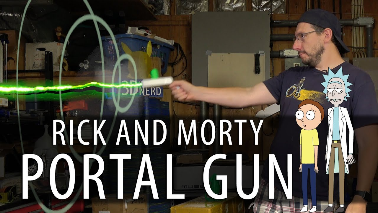 Rick and Morty Portal Gun – 3D Printed, Assembled, Working?