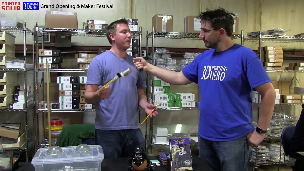 Interview with Dewey Mac Kid Detective at the Printed Solid Grand Opening in Newark, Delaware