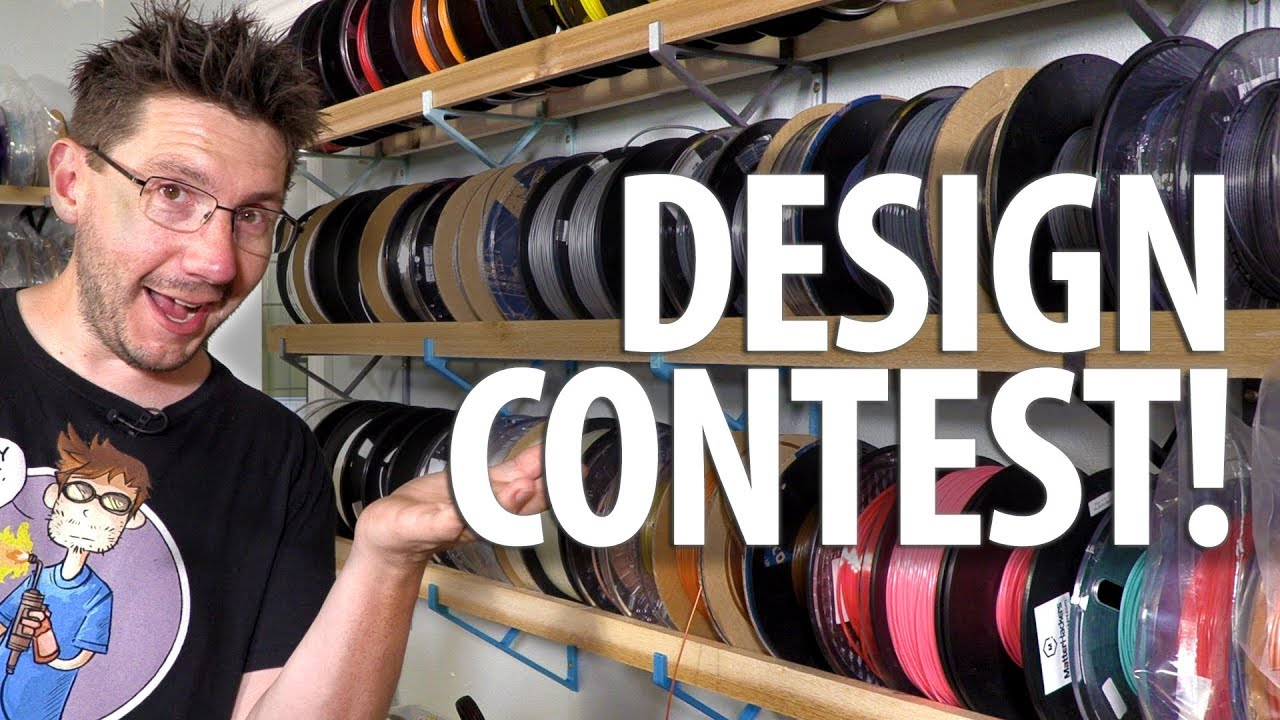 3D Printing Design Contest – Filament Spool Holder! Thanks to Matterhackers and MyMiniFactory!