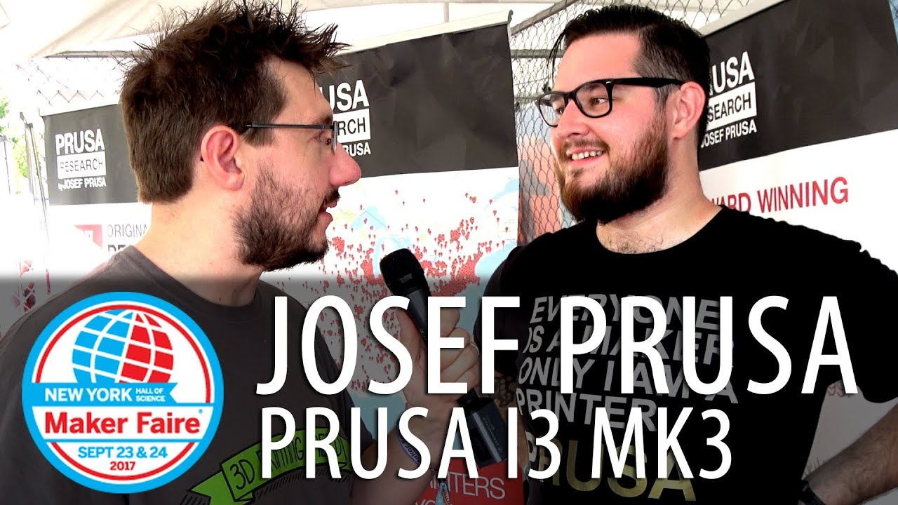 First Look at Original Prusa i3 mk3 3D Printer #MFNY17 – Josef Prusa at Maker Faire New York 2017
