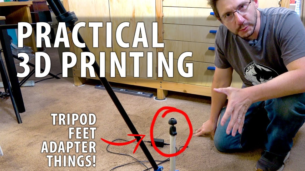 The Easiest Fusion 360 Tutorial There Is! 3D Printing Tripod Feet Attachments with Pulse XE & NylonX