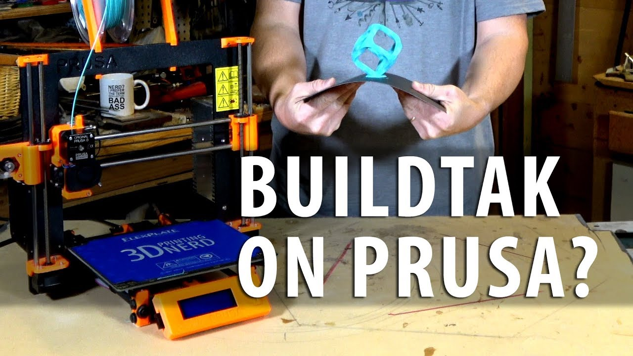 Installing BuildTak on the Prusa i3 mk2 3D Printer?