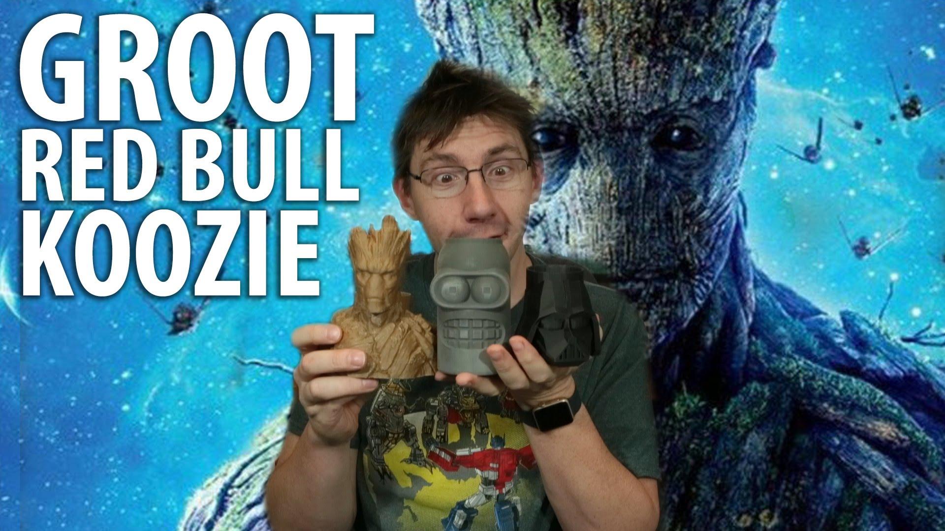 3D Printing a Groot Red Bull Koozie! Timelapse!