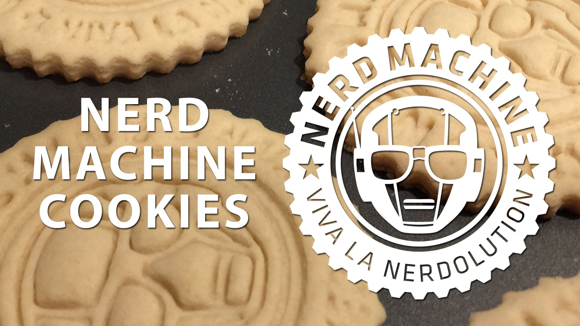 3D Printed Nerd Machine cookie cutter / tasty cookies!